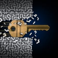 key through maze